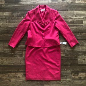 Evan Picone Pink 'Work Smart' Two-Piece Skirt Suit